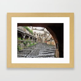 A Passageway in Dracula's Birthplace Sighisoara, Transylvania Framed Art Print