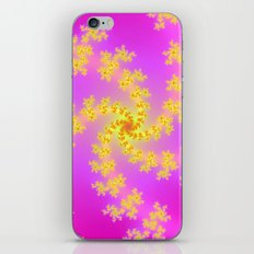 Yellow Spiral on Pink iPhone & iPod Skin