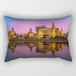 Bangkok Phra Nakhon si Ayutthaya Reflection Temples Evening Cities reflected temple Rectangular Pillow