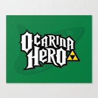 Ocarina Hero Canvas Print