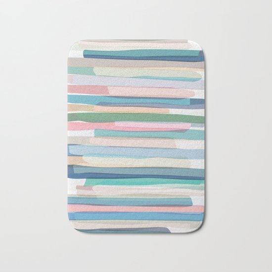 Pastel Stripes 1 Bath Mat