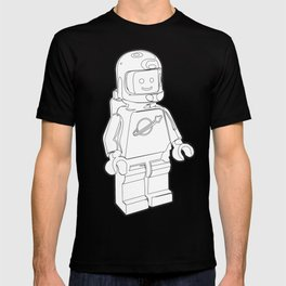 Vintage Spaceman Wireframe Minifig T-shirt