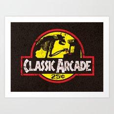 CLASSIC ARCADE Art Print