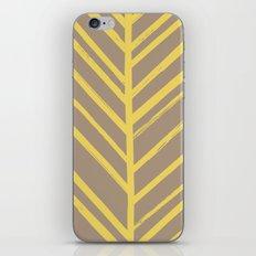 Painted Herringbone - in Marigold iPhone & iPod Skin