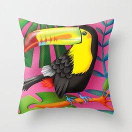 Toucan Tropic Throw Pillow