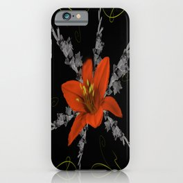 Lily and Gladiolas abstract iPhone Case
