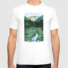 Landscapes / Nr. 2 Mens Fitted Tee White MEDIUM