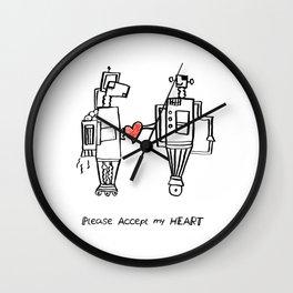 Please Accept My Heart Wall Clock