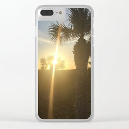 Sunrise in Tybee Clear iPhone Case