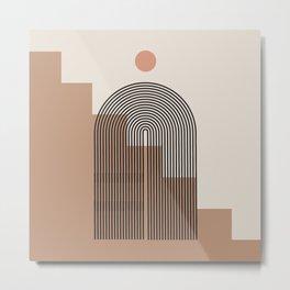Abstraction_NEW_SUN_ARCHITECTURE_BOHO_POP_ART_0118 Metal Print