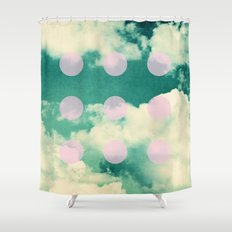 Clouds + Dots Shower Curtain