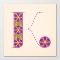 K - Amarilis Canvas Print