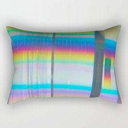 Abstract with rainbow Rectangular Pillow