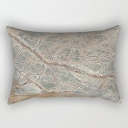 Brown Marble I Rectangular Pillow