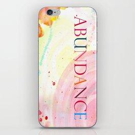 Abundance iPhone Skin