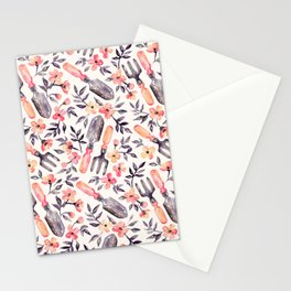 Spring Gardening - peach blossoms on cream Stationery Cards