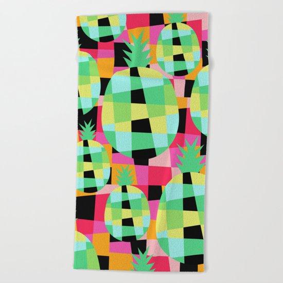 Pop-Pineapple Beach Towel