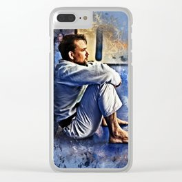 Flanery BJJ - Grunge Design Clear iPhone Case