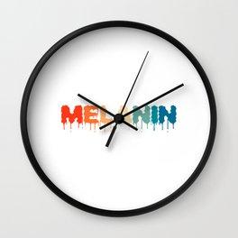 Melanin Celebrate Black History Month Apparel T-shirt Design Respect Appreciation Garment Apparel Wall Clock