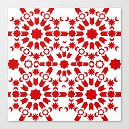 Red Arabesque Canvas Print