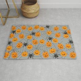 Hallween pumpkins spider pattern Rug