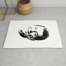 Ronald Reagan Minimalistic Pop Art Rug