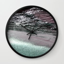 Dark Saturated Sea Coast Wall Clock