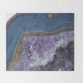Amethyst Geode Agate Throw Blanket