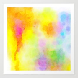 Watercolour Wash Art Print