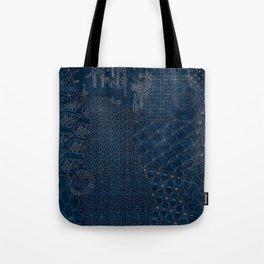 Sashiko - random sampler Tote Bag