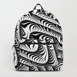 Black and White Serpentine Pattern Backpack