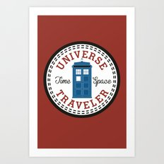 Doctor Who Converse Time Traveller Art Print