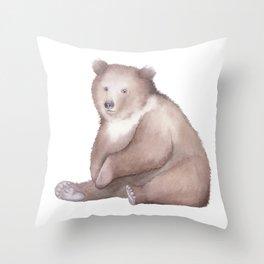 Bear Watercolor Throw Pillow