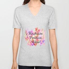Radiant Postive Vibes Unisex V-Neck