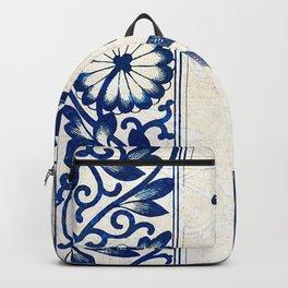 Blue Oriental Vintage Tile 03 Backpack