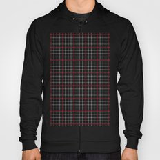 Dotted Grid Weave Black Red Hoody