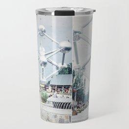 Brussels Atomium Photo Collage Travel Mug