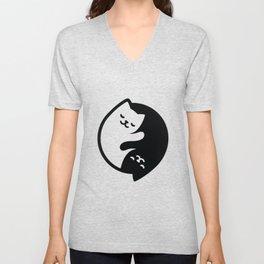 Cat Yin Yang Unisex V-Neck