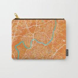 Vilnius, Lithuania, Gold, Blue, City, Map Carry-All Pouch