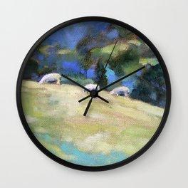 Grazing  Sheep Wall Clock