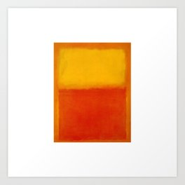 1956 Orange and Yellow by Mark Rothko Art Print