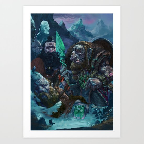 A fallen brother Art Print