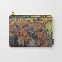 The Red Vineyards Oil Painting on Burlap by Vincent van Gogh Carry-All Pouch
