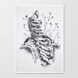 Sono crepe e spine che avanzano tra le vertebre. Canvas Print