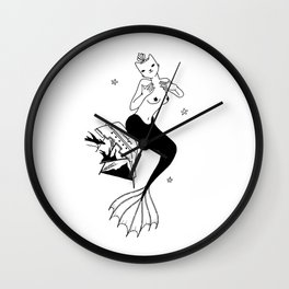 Purrr Mermaid Wall Clock