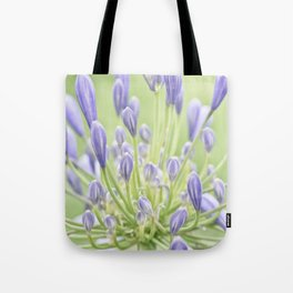 Agapanthus Blue and Green Tote Bag
