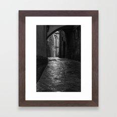 Wet Alley Framed Art Print