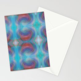 Retro Nouveau Pattern Stationery Cards