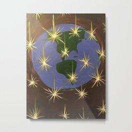 Collapsed Stars Around the World Metal Print