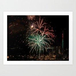 Firework collection 14 Art Print